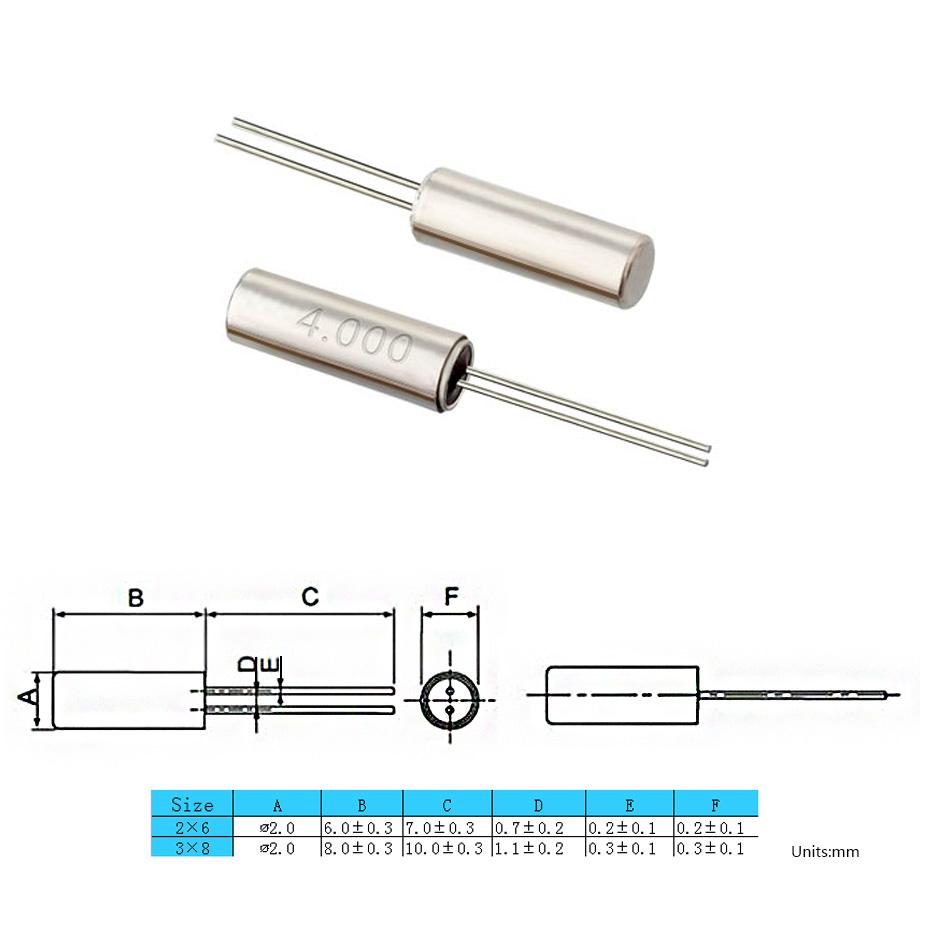 MHz插件晶振2X6/3X8