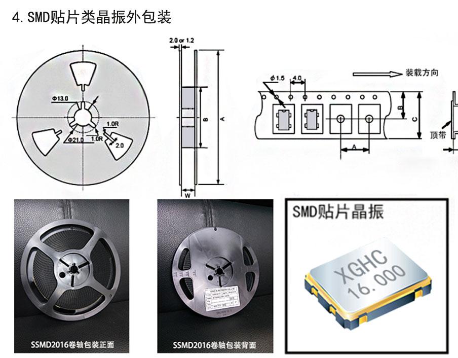 SMD贴片类晶振外包装